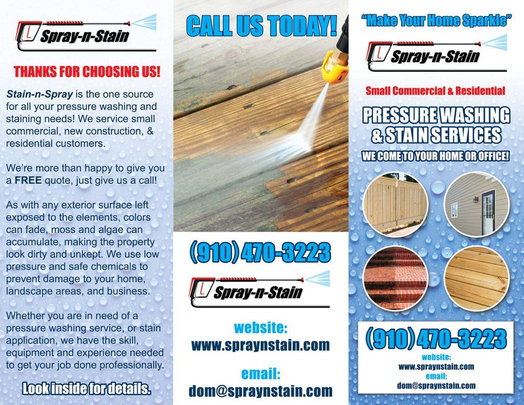Spray N Stain brochure (outside)