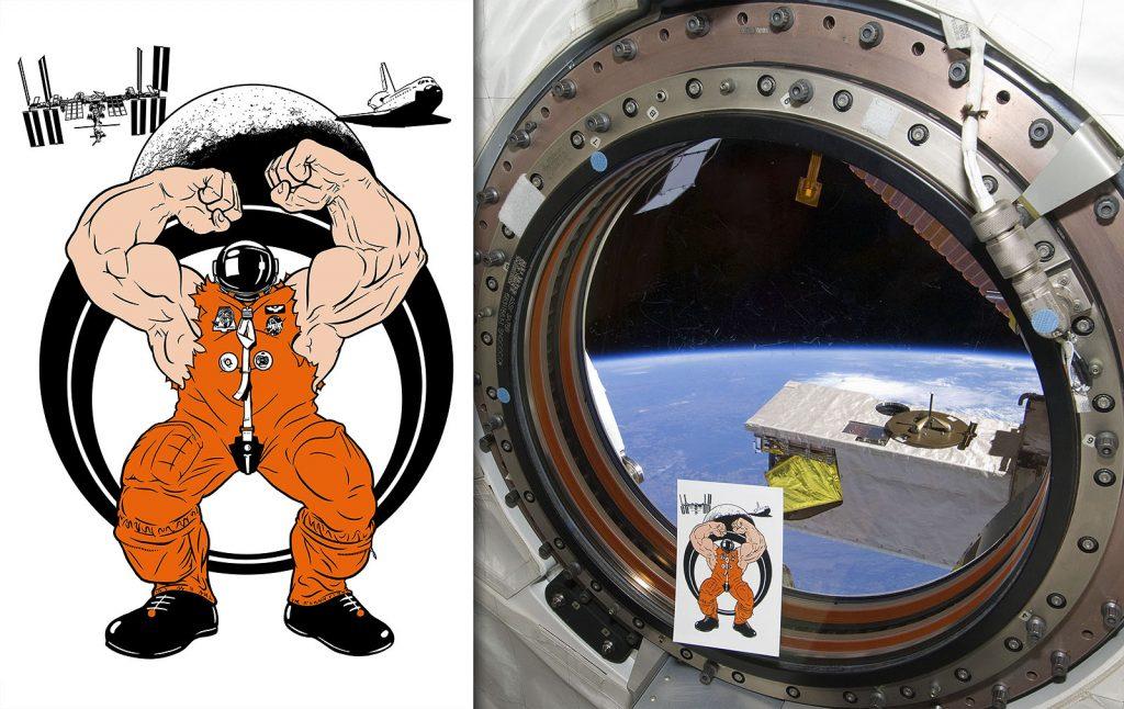 Artwork on board International Space Station